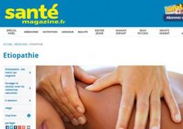 Santé Magazine - Soizic FERLAY - Etiopathe - Chambery - Aix les bains - Challes - Montmélian - Pontcharra